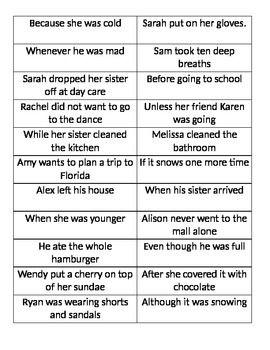 complex sentences practice complex sentences complex sentences