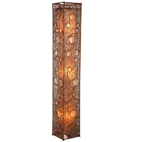 Cascade I Wrought Iron And Wicker Trung Tam Cung Cap Den Trestanding Lamp With Images Wicker Floor Lamp Standing Lamp Decorative Floor Lamps