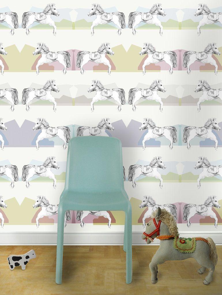 Louise Body\'s Children\'s wallpaper: Horsey   Children\'s Stylish ...