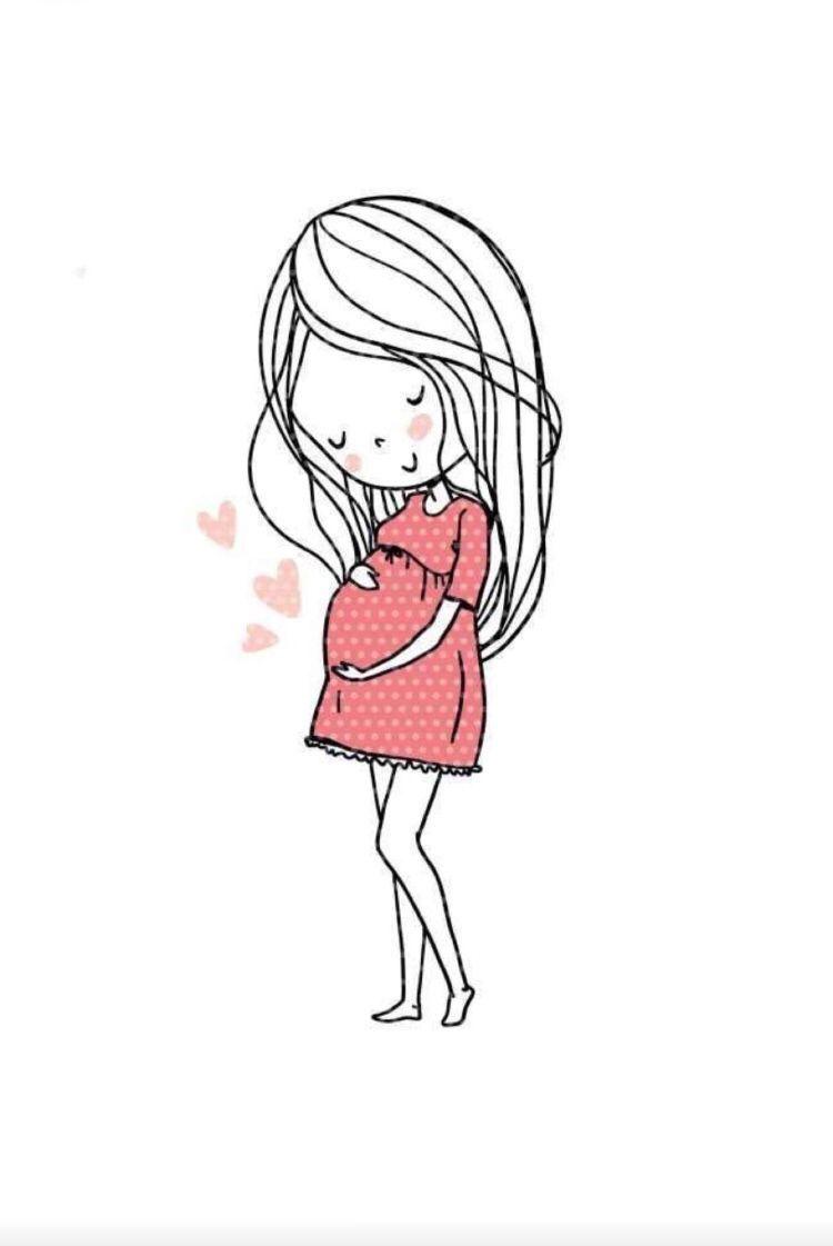 Pin De Gabriel Santos En Vision Board Embarazo Dibujo Mujer Embarazada Dibujo Imagenes De Embarazo