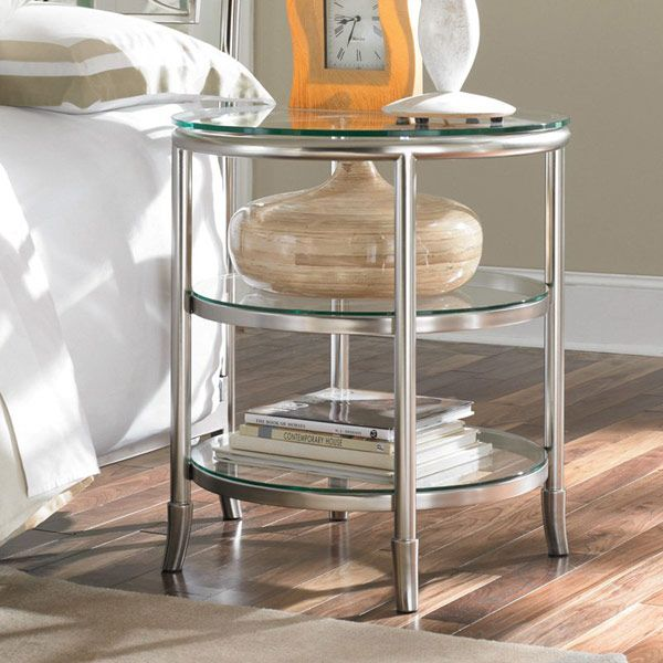 Best Of Round Metal Nightstand