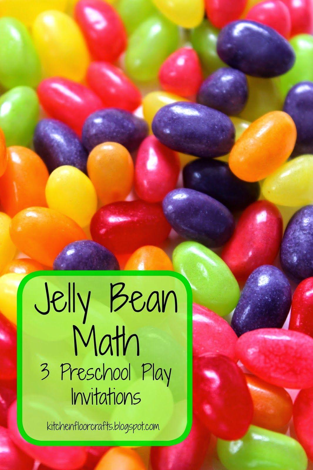 Jelly Bean Math 3 Preschool Play Invitations