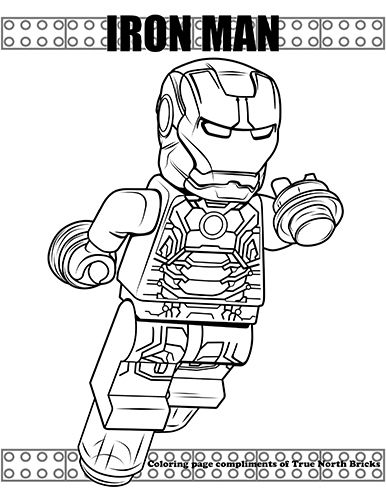 Free Coloring Page Iron Man True North Bricks Avengers Coloring Pages Lego Coloring Pages Marvel Coloring