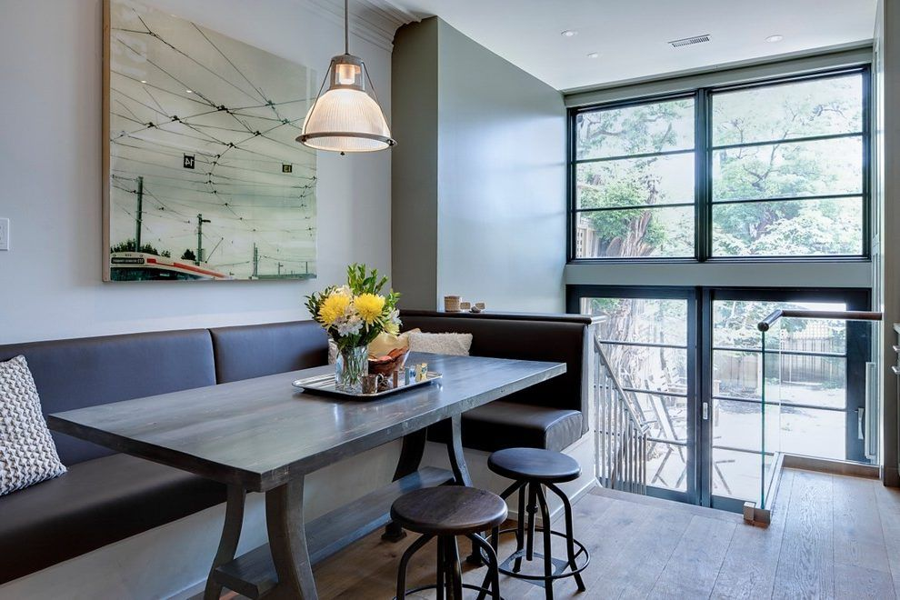 Dining Table With Banquette Seating Dining Room Contemporary With