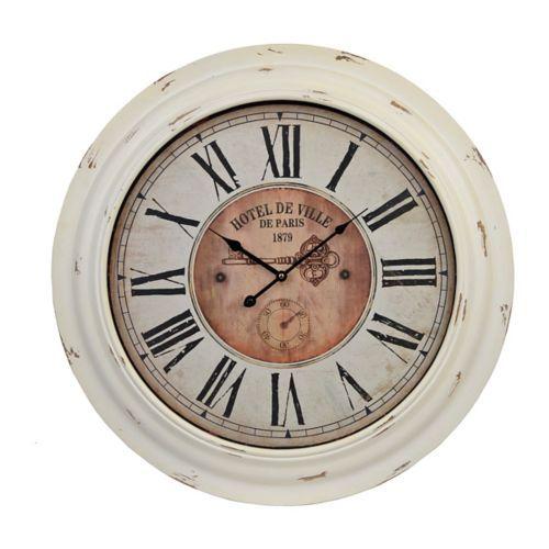 Jennison Distressed Cream Clock   Pinterest   Cream clocks, Clocks ...
