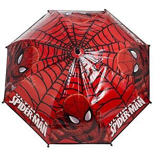 MARVELS-ULTIMATE-SPIDERMAN-KIDS-BOYS-SCHOOL-RAIN-DOME-BUBBLE-UMBRELLA-BROLLY-RED