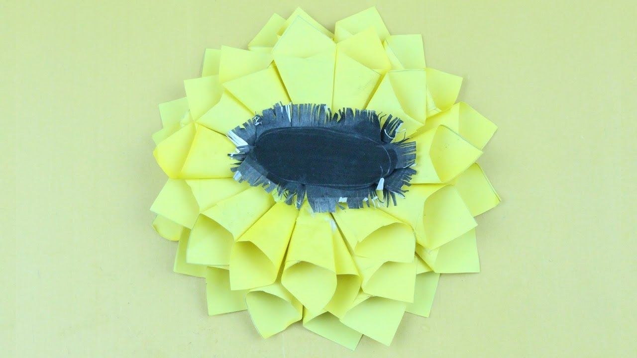 Origami Sunflower Of A Origami Flower With Origami Sunflower