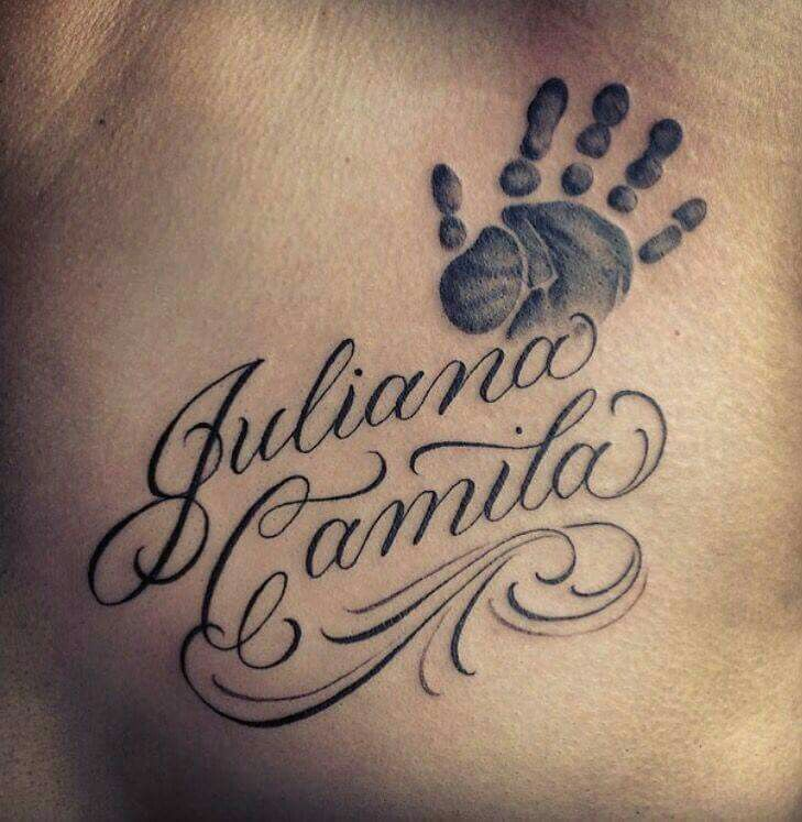 Pin By Jelisa Hill On Great Tattoos Name Tattoos For Moms Baby Name Tattoos Tattoos With Kids Names