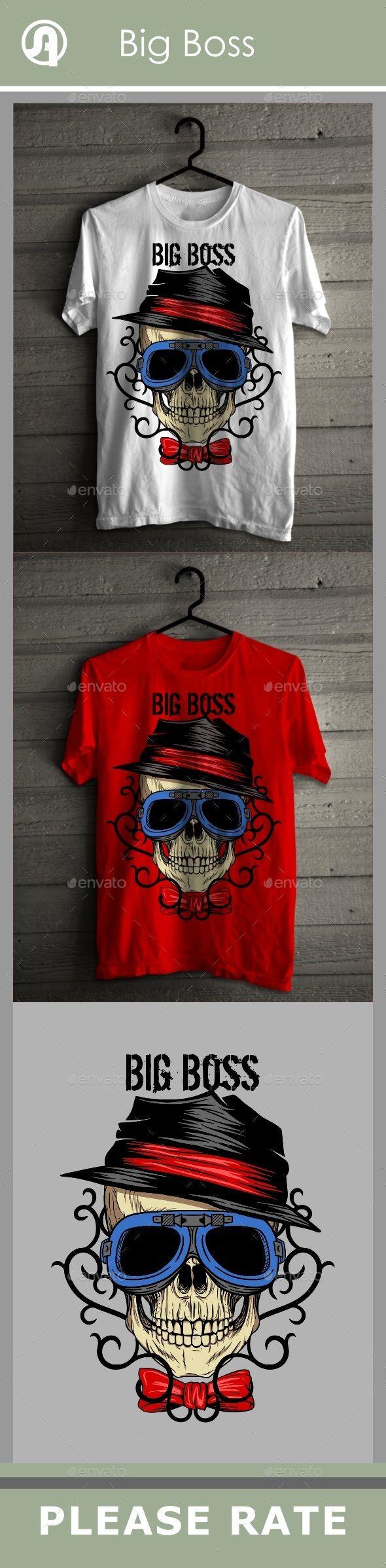 Big Boss Skull with Tribal Background TShirts