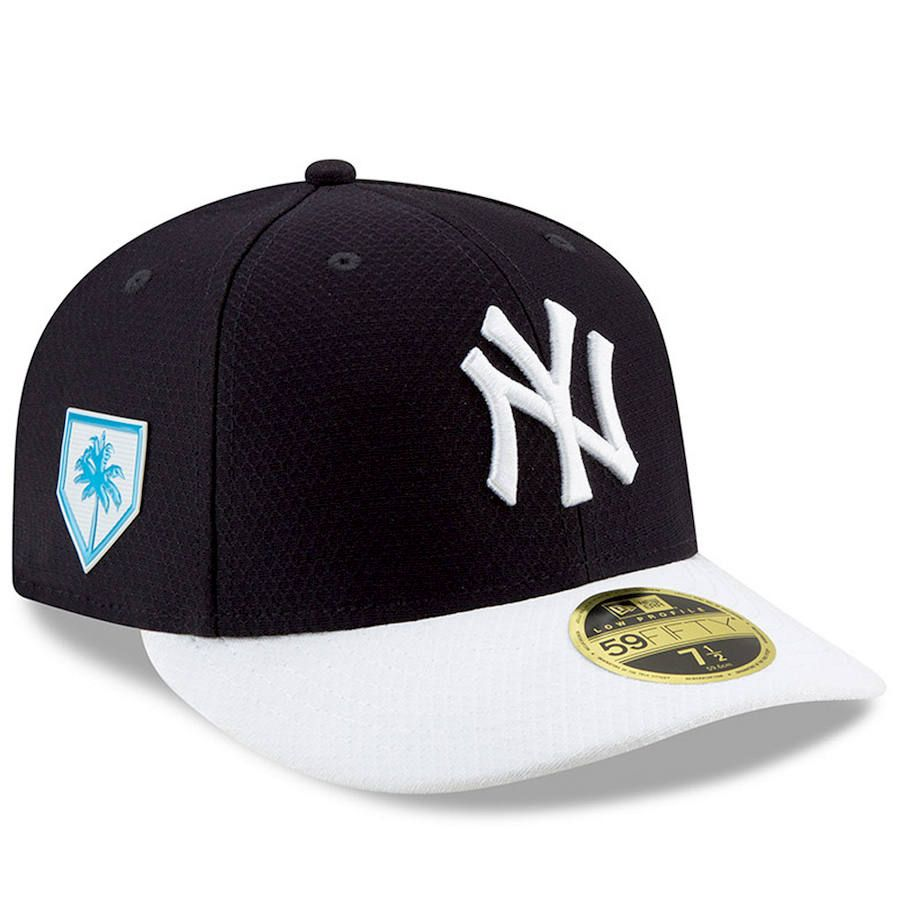 sports shoes 2fa9e c3bd0 Men s New York Yankees New Era Navy White 2019 Spring Training Low Profile  59FIFTY Fitted Hat,  39.99