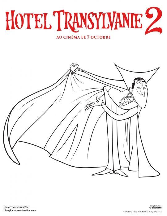 Coloriage Hôtel Transylvanie 2 Dracula Dracula Sur Tête