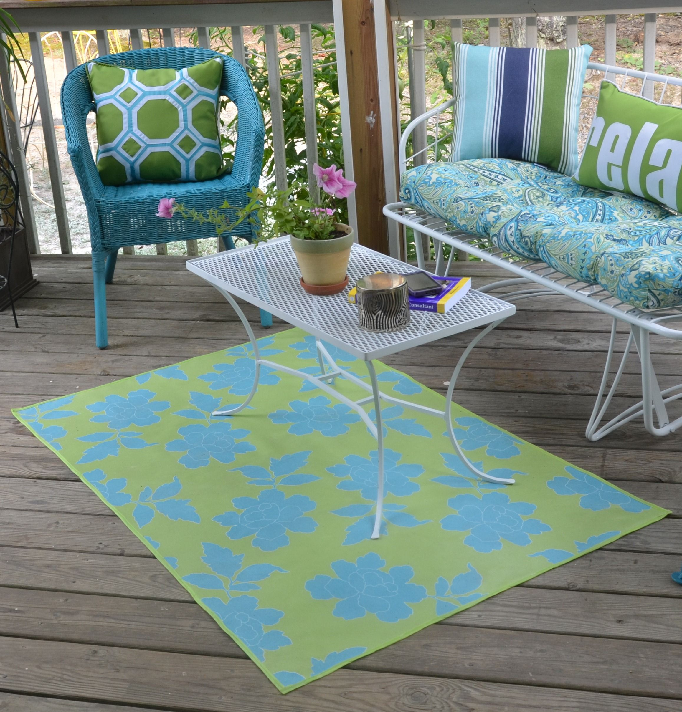 My Floor Cloth Rug That I Made With Outdoor Canvas Material That I Coated With Polyurethane Floor Cloth Painted Floors Outdoor Canvas