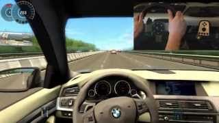 Bmw M5 F10 City Car Driving Simulator G27 300 Km H Big Crash