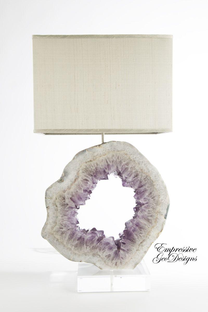 Lamps Purple Geode Decor Lamps Mineral Accessories Amethyst Rocks Quartz Crystals Agate Tab Geode Decor Handmade Home Decor Home Decor Accessories