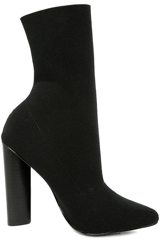 Leading ladies set the trend by stepping out in the Steve Madden Capitol  Black Knit Mid