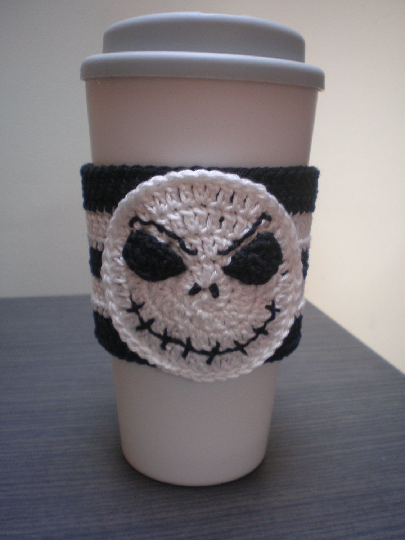 Halloween Nightmare Skull Coffee Cozy By Ashcraftshop On Etsy