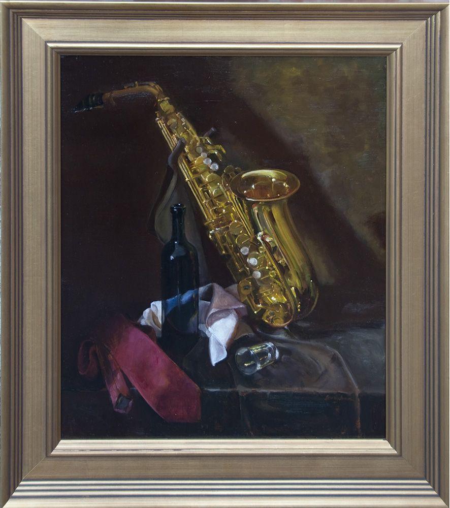"""""""Jazz Break""""  20""""x24"""" oil on linen by Beverly Brown"""
