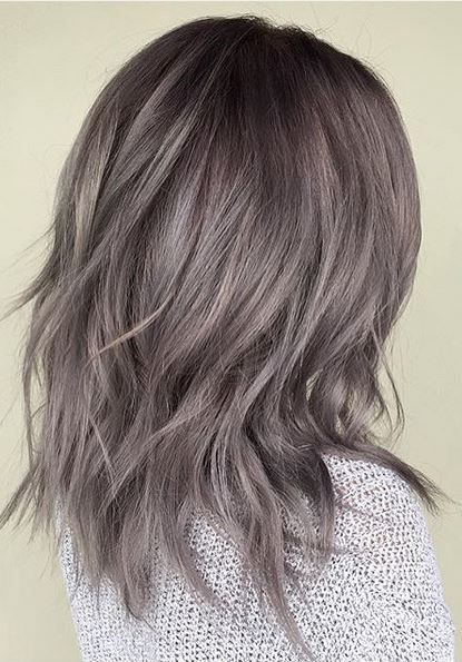 metallic pearl gray hair color | 2016 Hair | Ash brown hair, Hair ...