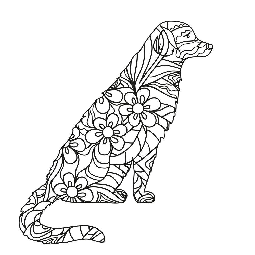 Coloreando Mandalas De Perros Creative Art Coloring Pages For Grown Ups Amazing Art Painting [ 1000 x 1000 Pixel ]