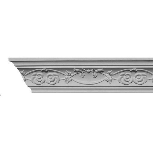 Zoomed Evertrue 2 3 4 In X 3 7 8 In X 8 Ft Paint Grade Plastic Crown Moulding Pattern C Rose 8 Crown Molding Front Room Design Shabby Chic Crafts