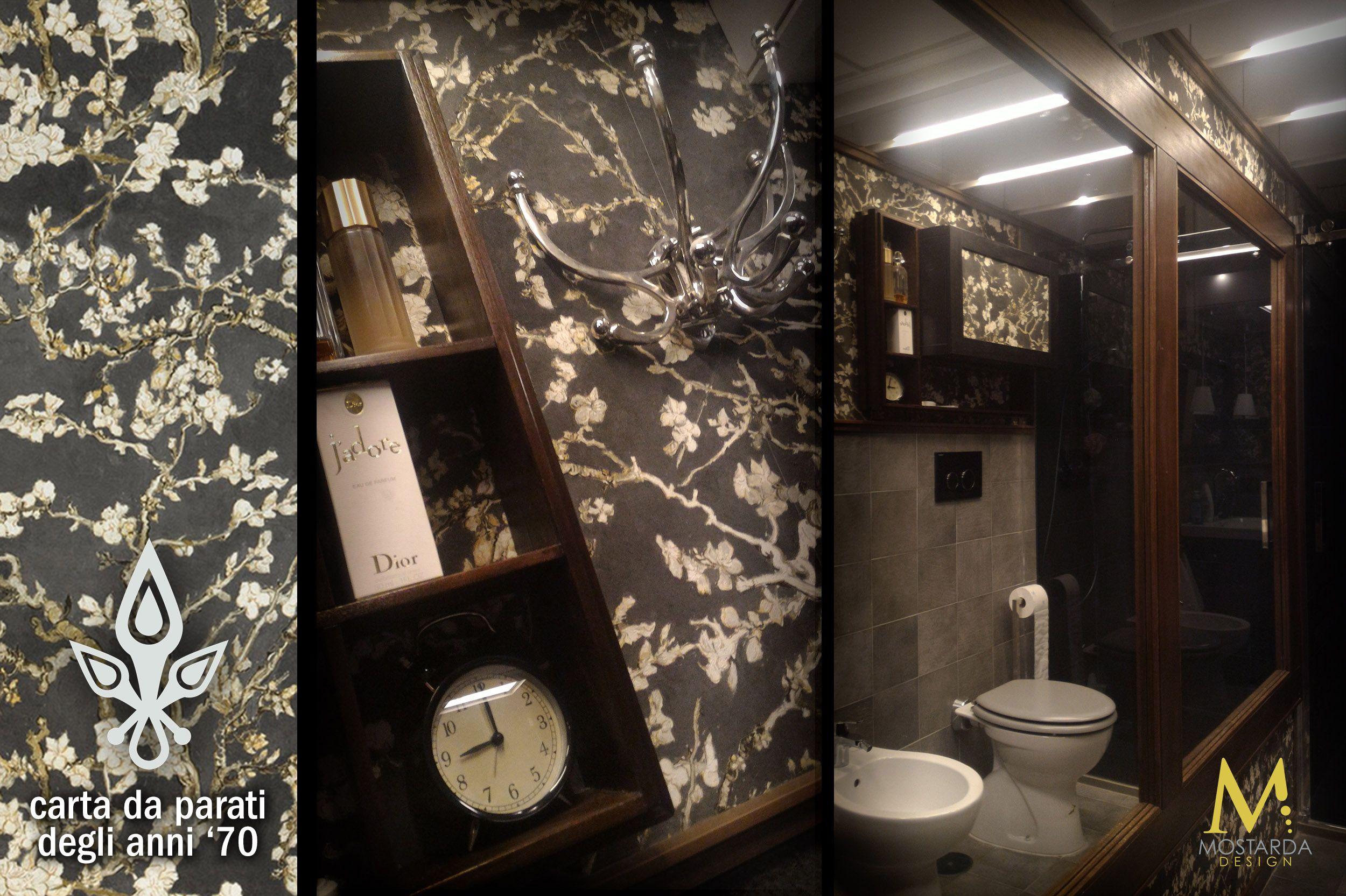 Carta Da Parati Roma mostarda design bagno casa privata - roma san lorenzo