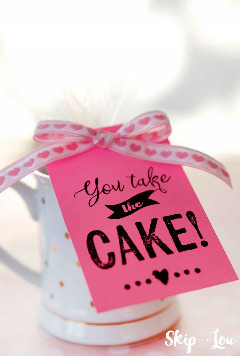 you take the cake tag on mug cake | Gift cake, Chocolate ...