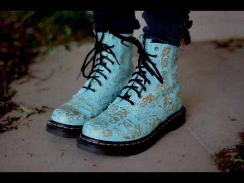 D.I.Y Custom Doc Martens   Diy shoes