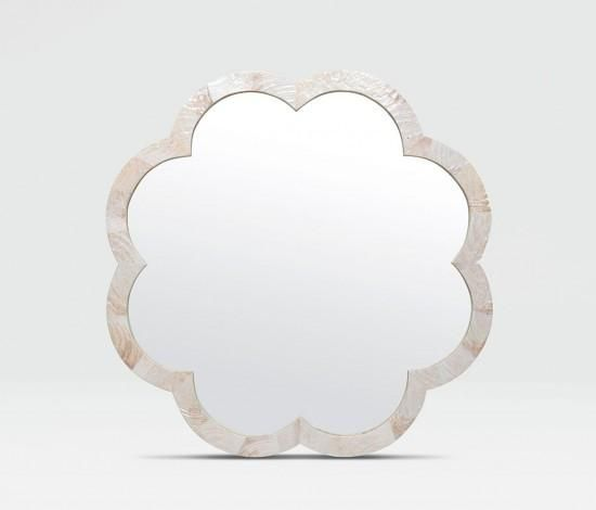 Made Goods Fiona Mirror Kabibe Flower Shaped Wall Decor Mirrors Decorative Bathroom Large