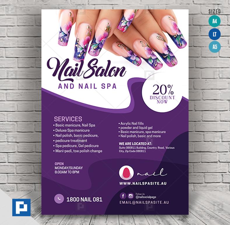 Beauty Nail Salon Flyer Psdpixel Beauty Nail Salon Beauty Nails Nail Salon
