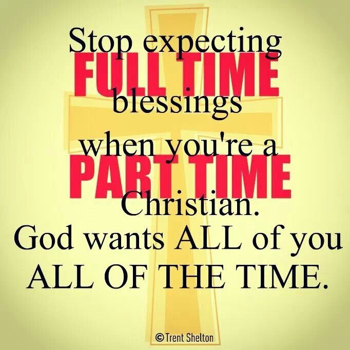 Put God first!! everything else thereafter!! Stop