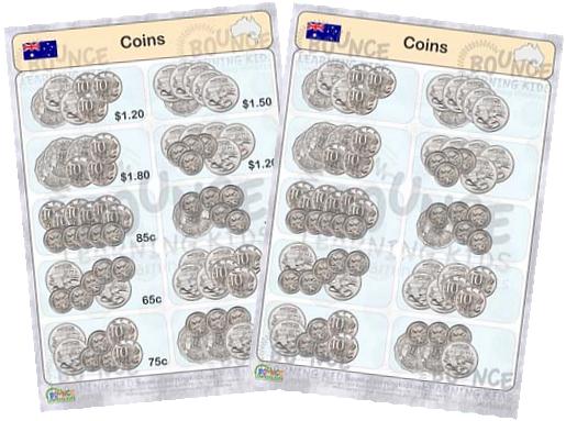 australian dollar coins worksheets home school