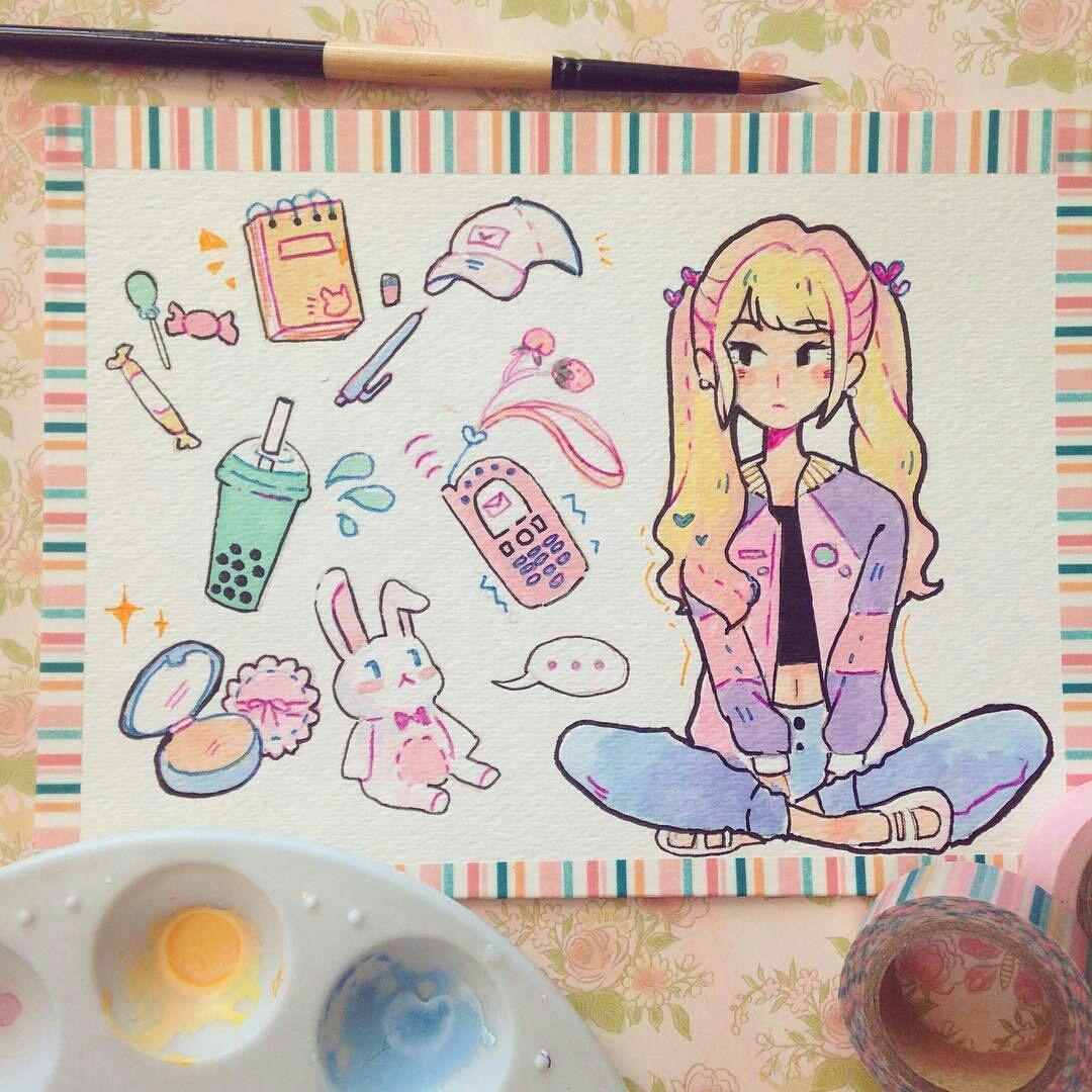 Картинки из личных дневников девочек для рисования