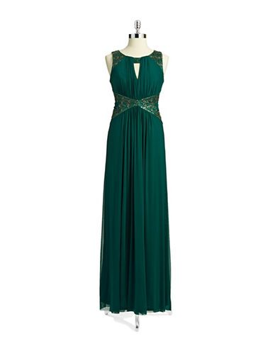 Women's Apparel | Formal/Evening | Sequin and Bead Embellished Gown | Lord and Taylor