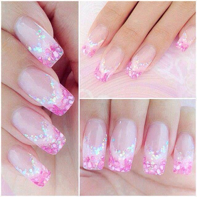 Pink cutie pie girly bunch nails