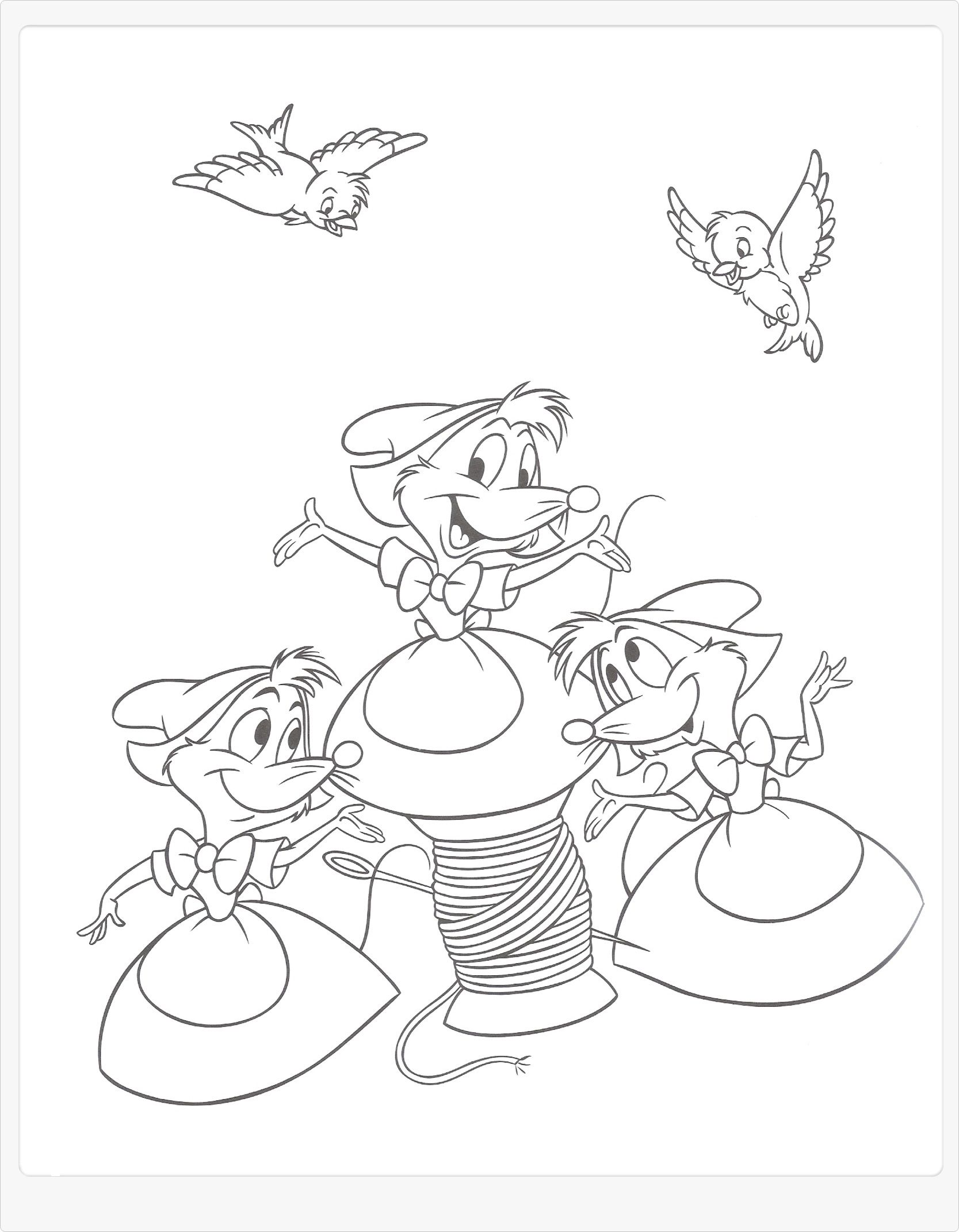 de muisjes cinderella coloring pages coloring
