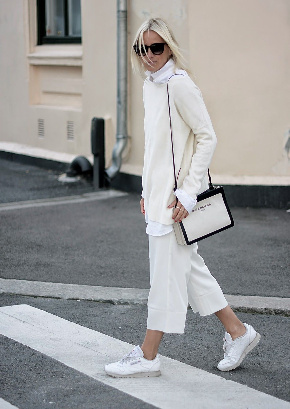 All White And Oversized