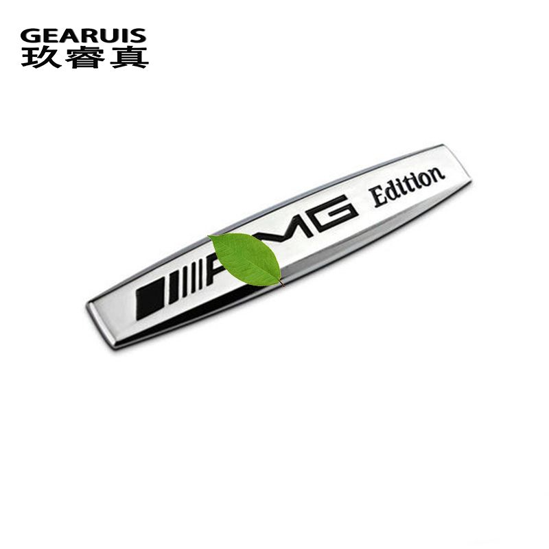 Automobiles for mercedes benz glk gl cla b c e amg logo metal car sticker car accessories sports emblem on car covers styling