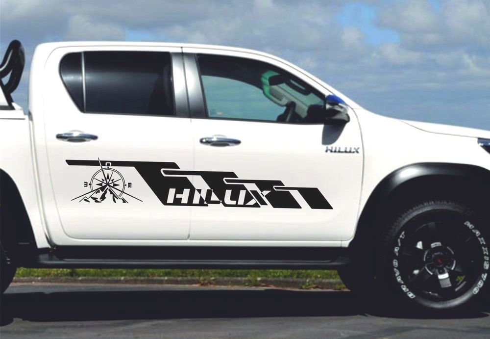 Both sides Toyota Hilux body Decal sticker