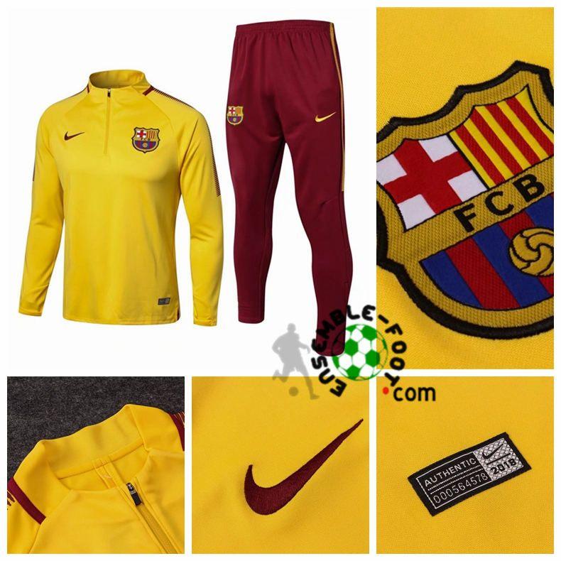 39a6ea8ea204 site survetement foot FC Barcelone Jaune 2017/2018 | survetement ...