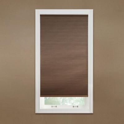 Enhance Your Room By Adding This Classic Home Decorators Collection  Cut To Width Mocha Cordless Fabric Blackout Cellular Shade.