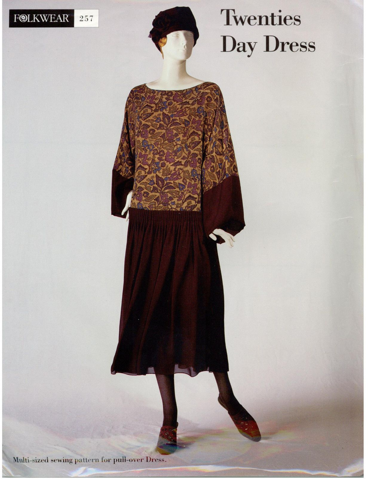 Vintage FOLKWEAR 20s Twenties Day Dress Sewing PATTERN ...
