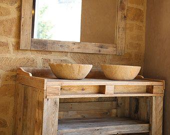Mobili Pallet ~ Mobili bagno realizzati con legno pallet riciclaggio con bacini ad