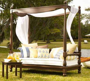 Balinese Daybed Canopy Pottery Barn Beautiful Outdoor Spaces Daybed Decorating Ideas Outdoor Spaces
