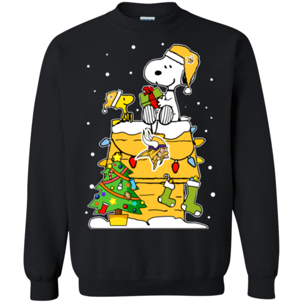 new product c5d15 19d7a Minnesota Vikings Ugly Christmas Sweaters Snoopy Hoodies ...