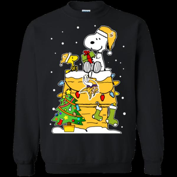 Minnesota Vikings Ugly Christmas Sweaters Snoopy Hoodies Sweatshirts