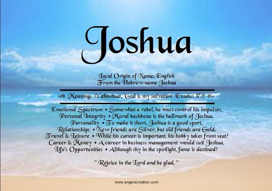 Joshua | Names with meaning Meant to be Names