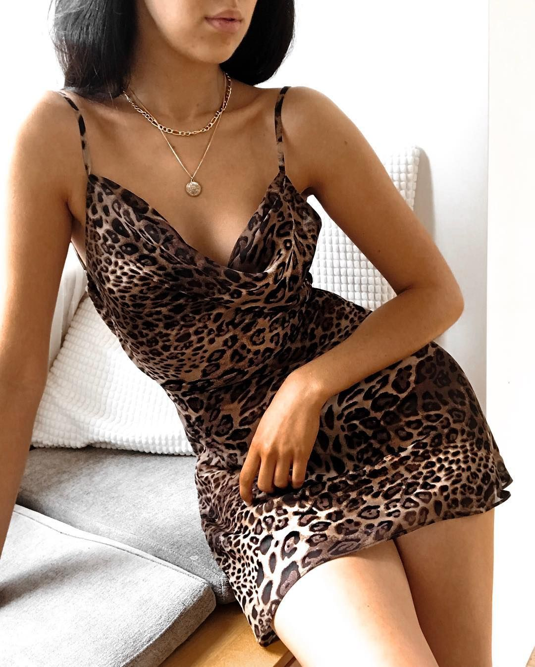 Suspender leopard cami dress style pinterest dress outfits