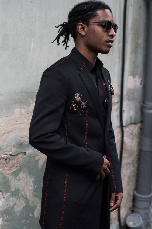 A$AP Rocky backstage at Dior Homme SS17