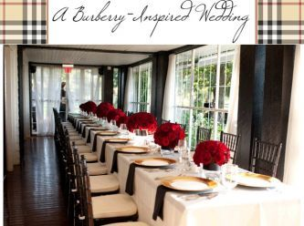 Burberry Wedding Inspiration Black Red Gold Cream Plaid Color Palette Reception Decor White And Pops Of Pinterest