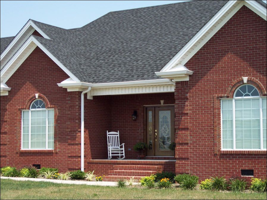 Best Image Detail For White Trim A Dark Grey Roof And Deep Red 640 x 480